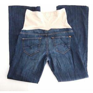 Mavi Maternity Flare Jeans Full Panel Dark S